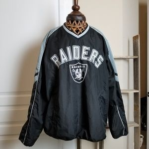 NFL Raiders pullover Nylon Jacket